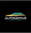 automotive logo vector image vector image