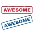 Awesome Rubber Stamps vector image vector image