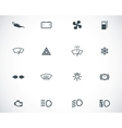 balck car dashboard icons set vector image vector image