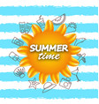 banner for summer time vacation background with vector image vector image