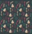 birthday background seamless pattern vector image vector image