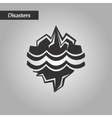 black and white style melting glacier vector image vector image