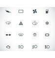 black car dashboard icons set vector image vector image