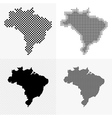 Brazil map set vector image