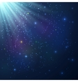 Bright colorful shining cosmic background vector image vector image