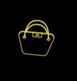 bucket sign shopping bag neon icon vector image