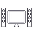 cinema home theater line icon sign vector image vector image