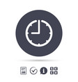 clock time sign icon watch or timer symbol vector image vector image