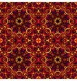 Colorful decorative card with mandala of swirling vector image vector image