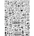 cooking food doodles vector image vector image