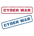 Cyber War Rubber Stamps vector image vector image