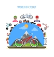 Cycling Concept Flat vector image vector image