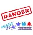 Danger Rubber Stamp vector image vector image