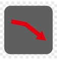 Fail Trend Rounded Square Button vector image vector image