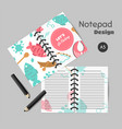 fishing organizer flat fish planner with net or vector image