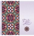 floral geometric violet background vector image