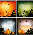 Four Halloween backgrounds vector image vector image