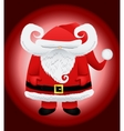 Funny cartoon caricature Santa Claus vector image