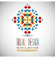 Geometric hipster tribal bright pixel design