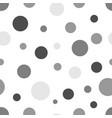 gray circles seamless background vector image
