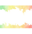 hand painted rainbow watercolor texture frame vector image vector image