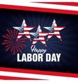 happy labor day poster icon vector image