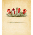 Happy new year 2015 New year design template vector image vector image