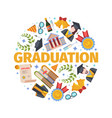 highly anticipated graduation concept joyful vector image vector image