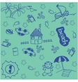 holiday in beach doodle art vector image