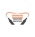 hookah house label badge vintage shisha logo vector image vector image