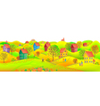 Horizontal autumn banner vector image