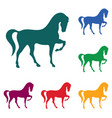 horse silhouette icon vector image