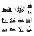isolated object travelling and environment vector image vector image