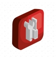 isometric wrench and screwdriver isolated icon vector image