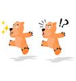 Jumping Bear vector image vector image