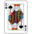 king of spades french version vector image vector image