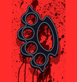lead knuckleduster on abstract background vector image