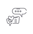 love correspondence line icon concept love vector image vector image