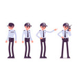 male security guard vector image