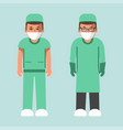 medical workers in uniform and masks isolated vector image