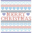 merry christmas nordic style with hearts vector image vector image