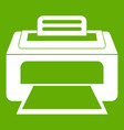 modern laser printer icon green vector image vector image
