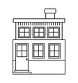 monochrome silhouette house of two floors and vector image vector image