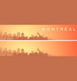 montreal beautiful skyline scenery banner vector image