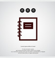 notebook icon simple student element symbol vector image