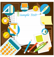 Office Supplies and Stationery Background Frame vector image vector image