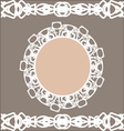 Pastel vintage stylized round frame and borders vector image
