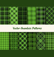 patrick day patterns in green colors vector image vector image