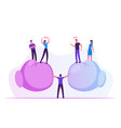 people arguing and yelling to each other standing vector image vector image