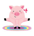 pig with colorful carpet vector image